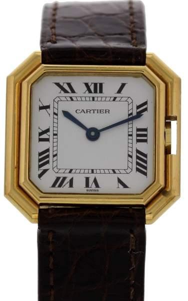Cartier Paris 18K Yellow Gold Vintage 27mm Womens Watch 1970s