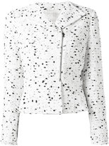 Giambattista Valli zipped tweed jacket - women - Silk/Cotton/Nylon/Virgin Wool - 48