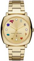 Marc Jacobs Women's Mandy Gold-Tone Three-Hand Stainless Steel Watch, 34mm
