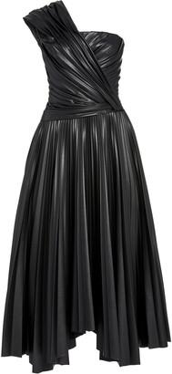 Jonathan Simkhai M'O Exclusive Asymmetric Faux-Leather Dress