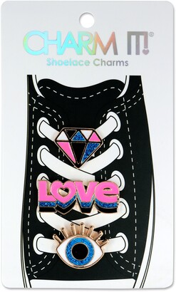 CHARM IT! 3-Pack Love Shoelace Charms