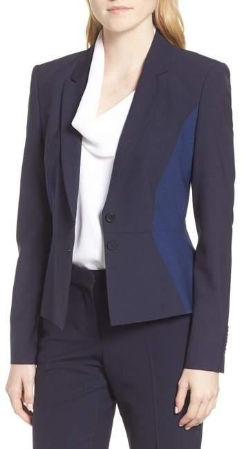 BOSS Jolia Patchwork Jacket (Regular & Petite)