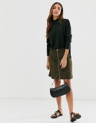 B.young leopard print mini skirt