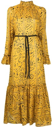 Zimmermann All-Over Floral Print High Neck Dress