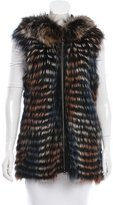 Glamour Puss Glamourpuss Fur Hooded Vest w/ Tags