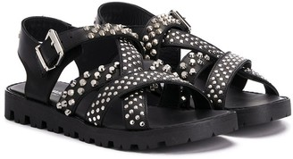 DSQUARED2 TEEN studded strappy sandals