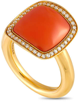 Vhernier 18K Rose Gold 0.21 Ct. Tw. Diamond & Coral Ring