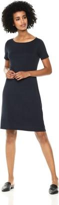 Daily Ritual Women's Jersey Short-Sleeve Bateau-Neck T-Shirt Dress