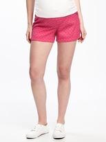 "Old Navy Maternity Mid-Rise Side-Panel Eyelet Shorts (5"")"