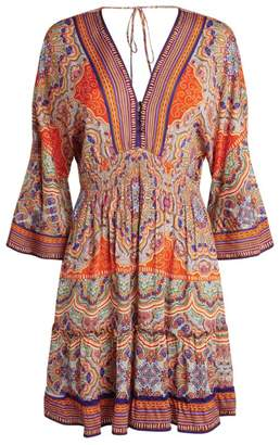 Hale Bob Printed V-Neck Dress