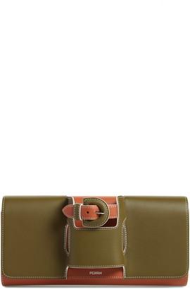 PERRIN La Parisienne Hand Strap Leather Clutch