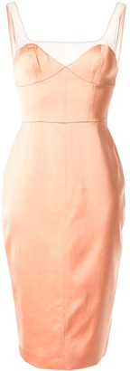 Manning Cartell sweetheart-neck dress