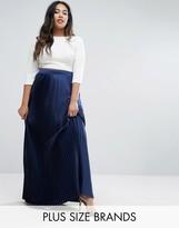 Lovedrobe Satin Pleated Maxi Skirt