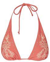 Topshop Embroidery & stud triangle bikini top