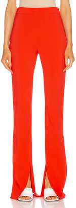Cushnie High Waisted Pant Flare Pant in Rouge | FWRD
