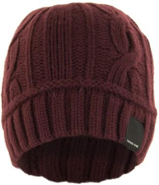 Canada Goose Cable Toque Elderberry Hat