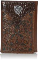 Ariat Men's Oak Embosed Tri-Fold