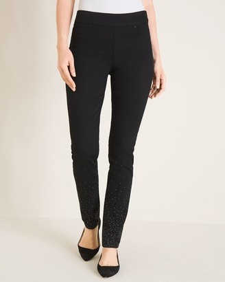 Chico's Embellished Pull-On Jeggings