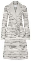Hugo Boss Catyla Wool Silk A-Line Jacquard Coat 4 Patterned