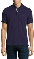Burberry Short-Sleeve Pique Polo Shirt, Purple