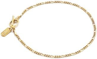 Degs & Sal Gold Figaro Chain Bracelet