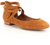GB Break-Out Suede Lace-Up Ankle Flats