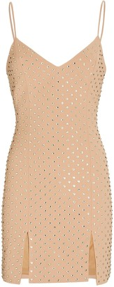 David Koma Crystal Embellished Mini Dress