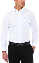 Haggar Solid Oxford Dress Shirt - Regular Fit, Buttoned Down Collar