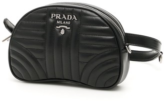 Prada Diagramme Logo Plaque Small Belt Bag