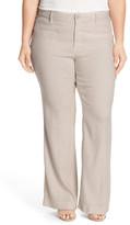 NYDJ &Claire& Stretch Wide Leg Linen Blend Trouser Jeans (Plus Size)