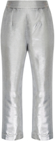 Isa Arfen Metallic Cropped Pants