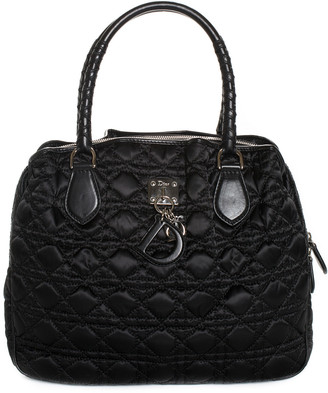 Christian Dior Black Nylon Cannage Charming Tote, Never Carried