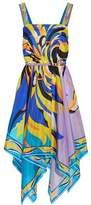 Emilio Pucci Fiore Maya Asymmetric Printed Silk-Chiffon Dress
