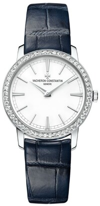 Vacheron Constantin White Gold and Diamond Traditionnelle Watch 33mm