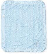 Swankie Blankie Ziggy Plush Receiving Blanket, Blue