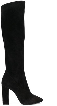 Saint Laurent Lou 105 knee-high boots