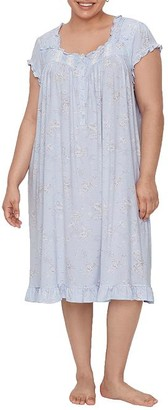 Eileen West Plus Size Floral Waltz Modal Nightgown
