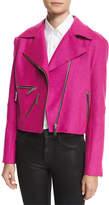 Public School Rodney Felted Biker Jacket, Pink