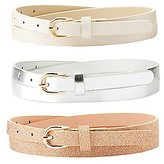 Charlotte Russe Plus Size Metallic & Glitter Belts - 3 Pack