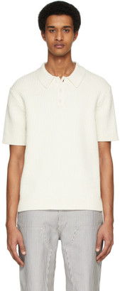 Helmut Lang Off-White Cable Polo
