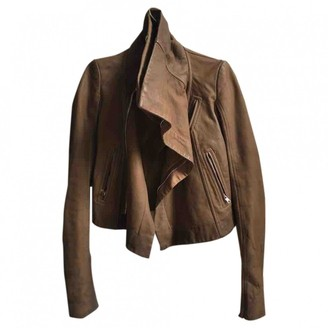 Rick Owens Brown Leather Jacket for Women