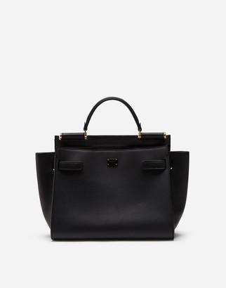 Dolce & Gabbana Medium Calfskin Sicily 62 Soft Bag