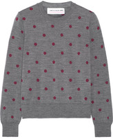 Comme des Garcons Polka-dot Intarsia Wool Sweater - Anthracite