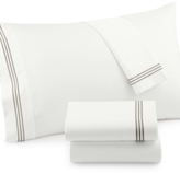 Westport CLOSEOUT! Merrow Line Embroidered Hem Queen 4-pc Sheet Set, 300 Thread Count 100% Cotton