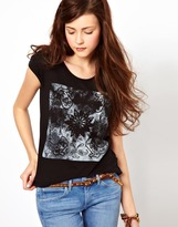 Wrangler Boot Print Cap Sleeve T-Shirt