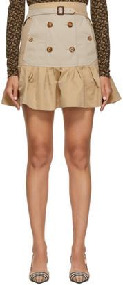 Burberry Beige Suzy Trench Miniskirt
