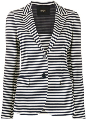Seventy Striped Single-Breasted Blazer