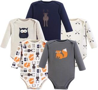 Hudson Baby Unisex Baby Cotton Long-sleeve Bodysuits