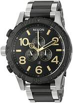 Nixon Men's '51-30 Chrono' Quartz Stainless Steel Watch, Color:Silver-Toned (Model: A0832194-00)