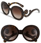 'Baroque' 55mm Round Sunglasses